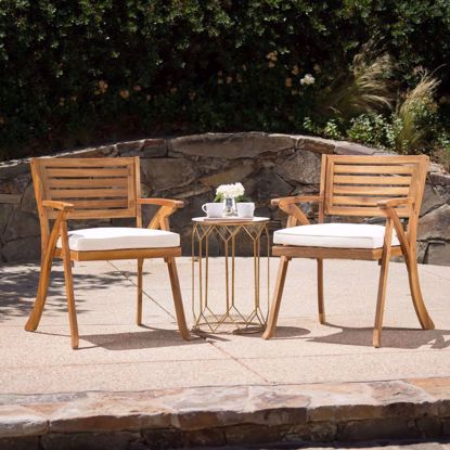 Picture of Finnel Acacia Wood Arm Chair (Set of 2)